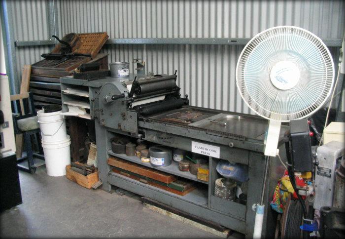 Vandercook press