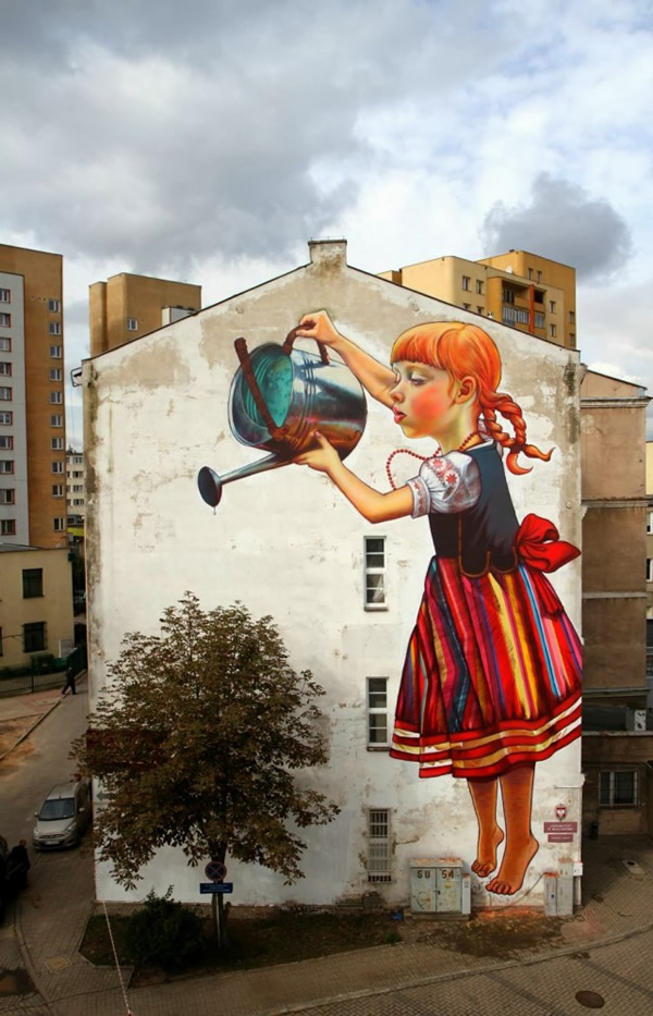 girl-watering-tree-graffiti-natalia-rak