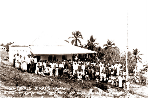 Queensland_State_Archives_2531_Murray_Island_court_house_and_people_1898