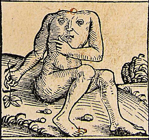 Blemmyes from Nuremberg Chronicle 1493