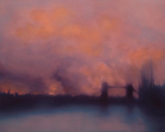 Jenny-Pockley.Blitz-Tower-Bridge-2014.-Oil-on-Gesso-120-x-150-cm-625x500