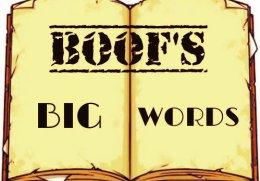 Boof's Big Words.