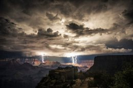 Night of Lightning in Grand Canyon.