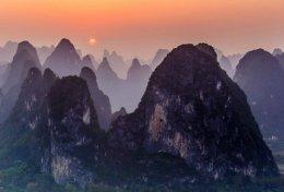 Sunset at Xingping,China.