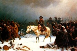 Napoleon retreats fromMoscow.