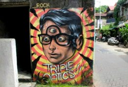 Street Art of Bandra, India.