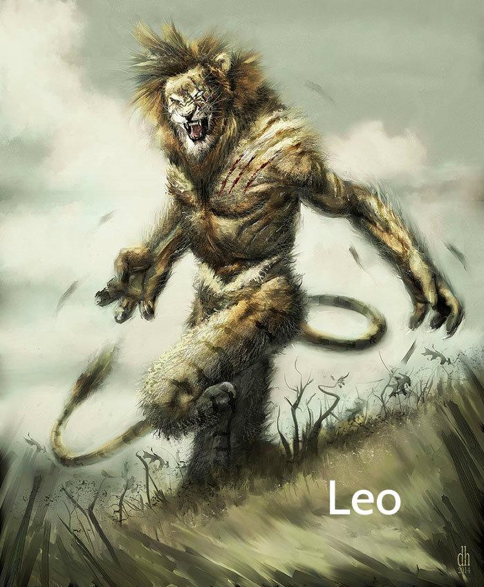 zodiac-fantasy-creatures-damon-hellandbrand-leo