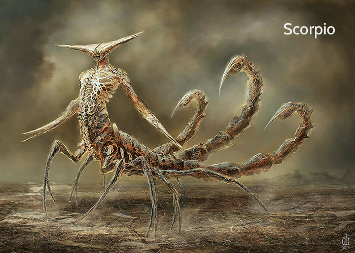 zodiac-fantasy-creatures-damon-hellandbrand-scorpio