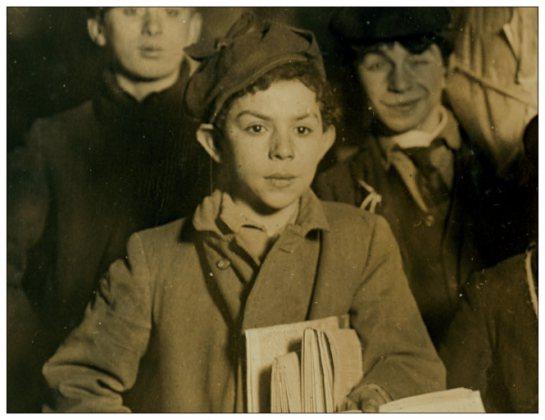 february_23rd_1908_boys_selling_newspapers_on_brooklyn_bridge