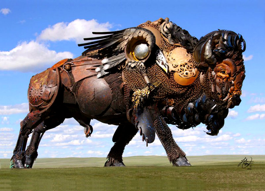 scrap-metal-bison-by-john-lopez-3