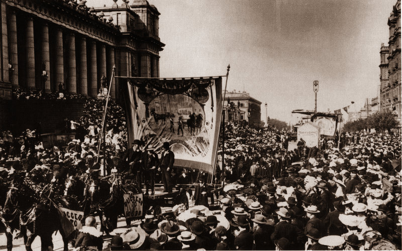 Melbourne_eight_hour_day_march-c1900