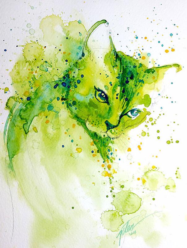 colorful-animal-watercolor-paintings-tilen-ti-14