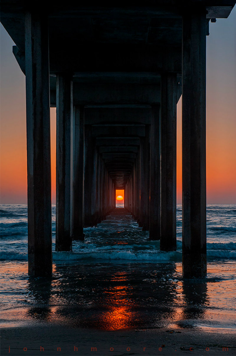 twice-year-ocean-sunset-perfectly-timed-scripps-pier-la-jolla-california-john-moore-3