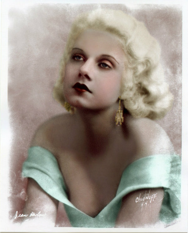 Beautiful Jean Harlow in Colorized Vintage Photos (22)