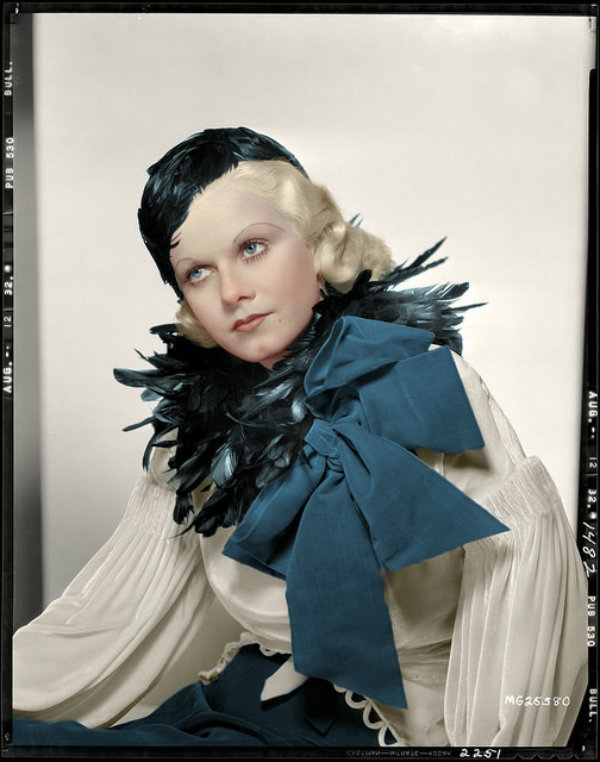 Beautiful Jean Harlow in Colorized Vintage Photos (8)