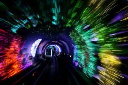 The Psychedelic Bund Sightseeing Tunnel, Shanghai.