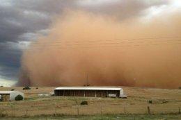 """Dust Storm heads towardsBarossa""."