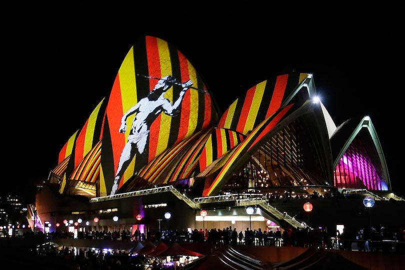 SYDNEY, AUSTRALIA - MAY 27: Sydney Opera House sails light up as part of Vivid Sydney on May 27, 2016 in Sydney, Australia. Vivid Sydney is an annual festival that features light sculptures and installations throughout the city. The festival takes place May 27 through June 18. (Photo by Mark Metcalfe/Getty Images)
