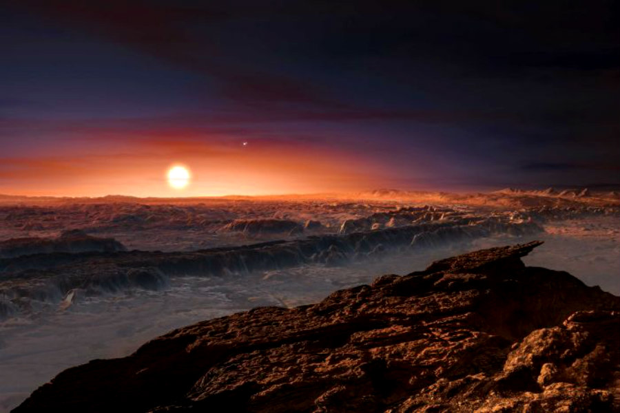 An artist's depiction of what could Proxima Centauri B look like from within. Image Source: Der Wombat DotNet