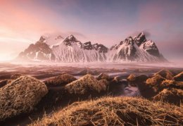 A Rosy Tinted Sunset atVestrahorn.