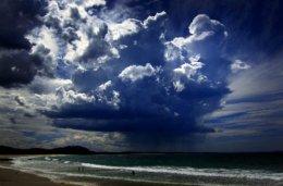 Storm Cloud gathers over Mollymook Beach,Sydney.