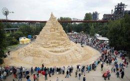 World's Highest Sandcastle,Duisburg.