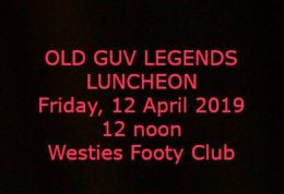 OGL Luncheon, 12 April, 2019.