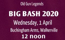 2020 Big Bash –Update.