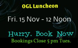 OGL Luncheon, Fri. 15 November, 2019.